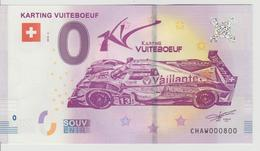 Billet Touristique 0 Euro Souvenir Suisse - Karting Vuiteboeuf 2018-2 N°CHAW000800 - Private Proofs / Unofficial