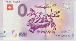 Billet Touristique 0 Euro Souvenir Suisse - Nest-Vevey 2017-1 N°CHAE004909 - Private Proofs / Unofficial