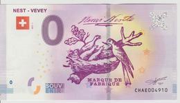 Billet Touristique 0 Euro Souvenir Suisse - Nest-Vevey 2017-1 N°CHAE004910 - Private Proofs / Unofficial
