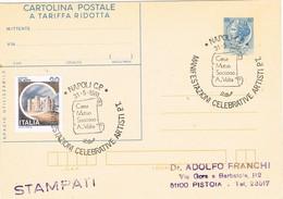 29214. Tarjeta NAPOLI  (Italia) 1981. Casa Mutuo Socorro VOLTA - 1981-90: Storia Postale