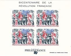 TAAF BF 1 Neuf** Bicentenaire De La Révolution Française - Blocs-feuillets