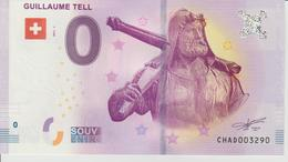 Billet Touristique 0 Euro Souvenir Suisse - Guillaume Tell 2017-1 N°CHAD003290 - Private Proofs / Unofficial