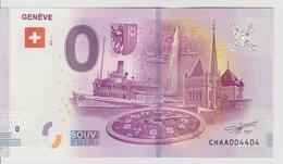 Billet Touristique 0 Euro Souvenir Suisse - Genève 2017-1 N°CHAA004404 - Private Proofs / Unofficial