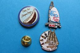 Pin's, Lot De 3 Sport,voilier,bateau - Sailing, Yachting