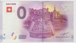 Billet Touristique 0 Euro Souvenir Suisse - Gruyère 2017-1 N°CHAJ000347 - Private Proofs / Unofficial