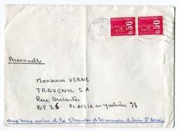 !!! LETTRE DE GREVE DE SEINE SAINT DENIS 1974 - Postmark Collection (Covers)