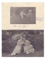 HUNDE - PINSCHER, 2 Photo-AK 1920 - Hunde