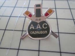 1216a Pin's Pins / Beau Et Rare : Thème SPORTS / AVIRON CLUB AAC CAZAUBON Pas CAZBONBON - Aviron