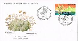 29219. Carta SANTA CRUZ TENERIFE (Canarias) 1983. Flores Y Plantas - 1931-Hoy: 2ª República - ... Juan Carlos I