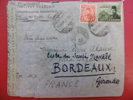 EGYPTE LETTRE CENSURE 1949 CACHET TIMBRE MILLS - 1934-39 Sandjak Alexandrette & Hatay