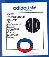 A.C 1993 XXIIIe Championnat BASKET BALL Caen Limoges Nantes ADIDAS - Adesivi