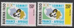 Burkina Faso 1996 Mi. 1441 - 1442 XIXe Sommet France - Afrique Ouagadougou Carte Landkarte Map 2 Val. ** - Burkina Faso (1984-...)