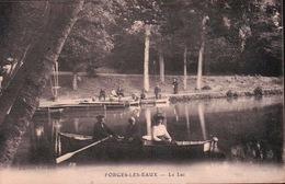 CPA 76 FORGES LES EAUX  Le Lac Tampon Du 9e Bat TIRAILLEURS INDOCHINOIS - Forges Les Eaux