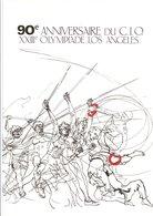 1984 DOCUMENT ENCART FDC 90 ANS DU C I O JEUX OLYMPIQUES DE LOS ANGELES - Documenten Van De Post