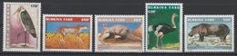 Burkina Faso 1998 Mi. 1503 - 1507 Animaux Protégés Oiseau Vogel Bird Mammal Faune Sauvage Wildlife Fauna RARE 5 Val. ** - Struisvogels