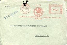 35888 Italia,  Red Meter/freistempel/ema/1957 Pistoia, Camera Di Commercio Ind. Agricoltura - Affrancature Meccaniche Rosse (EMA)