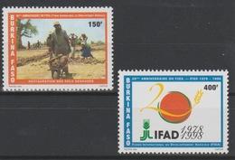 Burkina Faso 1998 Mi. 1499 - 1500 IFAD FIDA 20 Ans 1978 Food Nahrung 2 Val. ** - Against Starve