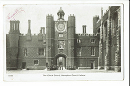 CPA - Carte Postale - Royaume Uni - Hampton Court Palace -The Clock Court-1916 -S1133 - London