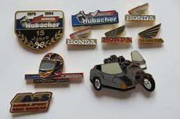 Lot De 9 Pin's,HONDA, Motosport, Honda-Sport, Motorrad - Badges