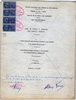 VP12.732 PARIS - Plan De 1959  Entre La S.N.C.F Ligne De VIERZON à SAINCAIZE & La Précision & La Carroserie De Levallois - Chemin De Fer