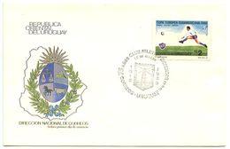 Uruguay 1988 Cover 75th Anniversary Club Atletico Defensor W/ Scott 1109 Soccer - Uruguay