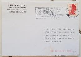 FRANCE Motos, Moto, Motocross, Flamme Temporaire Grand Prix De France VITESSE LE MANS 18, 19 Juillet 1987 - Motorräder