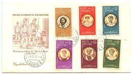 Vatican 1959 Scott 256-261 FDC Martyrs Of Emperor Valerian's Persecutions - FDC
