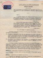 VP12.733 - TOURS - Acte 1961 - Entre La S.N.C.F Gare De BEAUGENCY & La Société Orléanaise De Literie....TRECA - PULLMAN - Chemin De Fer