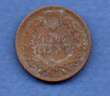USA  -  1 Cent 1907  -  Km # 90a  -- état  TB+ - 1859-1909: Indian Head