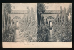 GRENADE = CARTE STEREO = JARDIN DU GENERALIFE - Granada