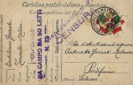 FRANCHIGIA POSTA MILITARE 4 ARMATA 1916 VERONA OSPEDALE CAMPO 73 X PERDIFUMO - 1900-44 Vittorio Emanuele III