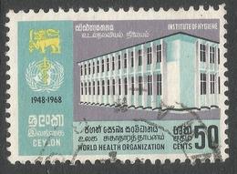 Ceylon. 1968 20 Anniv Of World Heath Organisation. 50c Used. SG 538 - Sri Lanka (Ceylon) (1948-...)