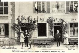 CPA 55 MEUSE , ROMAGNE Sous MONTFAUCON , Souvenir Du Memorial Day , 1930 , Animée , Militaires - Other Municipalities