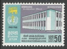 Ceylon. 1968 20 Anniv Of World Heath Organisation. 50c MNH. SG 538 - Sri Lanka (Ceylon) (1948-...)