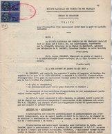 VP12.734 - PARIS X TOURS - 2 Actes De 1961 - Entre La S.N.C.F Gare De LA HAYE - DESCARTES & Mr Gaston CELLERIN - Chemin De Fer