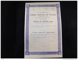 """Emprunt""""Cabinet Littéraire De Verviers """"1948 Très Bon état,reste Tous Les Coupons - Casino"""
