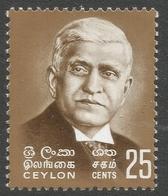 Ceylon. 1968 Birth Centenary Of Sir Baron Jayatilleke. 50c MNH. SG 537 - Sri Lanka (Ceylon) (1948-...)