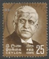 Ceylon. 1968 Birth Centenary Of Sir Baron Jayatilleke. 50c Used. SG 537 - Sri Lanka (Ceylon) (1948-...)