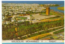 Maroc. Rabat. Dépliant 9 CPM Mausolée Mohamed V, Vue Aérienne, Vue Panoramique, Garde, Cour... - Rabat