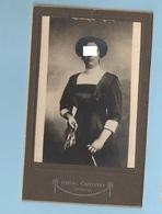 Brescia Fotografo Capitanio Foto Cabinet Photo Donna In Posa Fine '800 - Anonymous Persons
