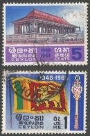 Ceylon. 1968 20th Anniv Of Independence. Used Complete Set. SG 535-536 - Sri Lanka (Ceylon) (1948-...)