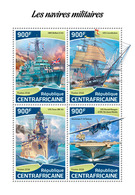 CENTRAL AFRICA 2018 - Military Ships, HMS Belfast And USS Texas In WW2. Official Issue - 2. Weltkrieg