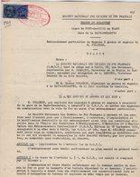 VP12.735 - PARIS - Acte De 1961 - Entre La S.N.C.F Ligne De PORT DE PILES Au BLANC X LA HAYE - DESCARTES & Mr CELLERIN - Chemin De Fer
