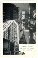 United States Vintage Postcard Strand Hotel & Times Square, New York City - Time Square