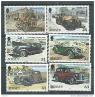 Jersey  N° 885 / 90  XX Vielles Automobiles ( III ),  Les 6 Valeurs  Sans Charnière, TB - Jersey