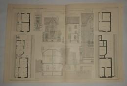 Plan D'un Petit Hôtel Particulier, Rue Pépin à Herstal En Belgique. M. N. Lambrecht, Architecte 1911 - Travaux Publics