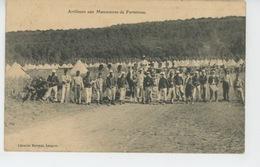 LANGRES - MILITARIA - Artilleurs Aux Manoeuvres De Forteresse - Langres