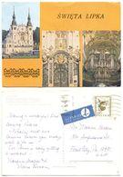 Poland 1989 Postcard Święta Lipka - Church, Our Dear Lady, To U.S. - Poland