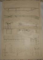 Plan D'un Pont En Béton Armé Au Plan Du Var. Chemin De Fer électrique De La Vallée De La Vésubie. 1911 - Travaux Publics