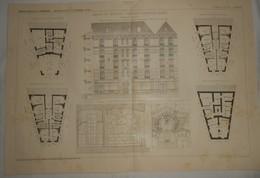 Plan D'une Maison De Rapport à Fontenay Sous Bois. Seine. M. Paul Aubin, Architecte. 1911 - Travaux Publics